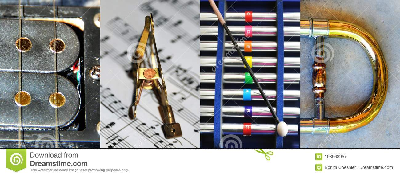 All Band Letters From Instruments Stock Image Image Of Sheet
