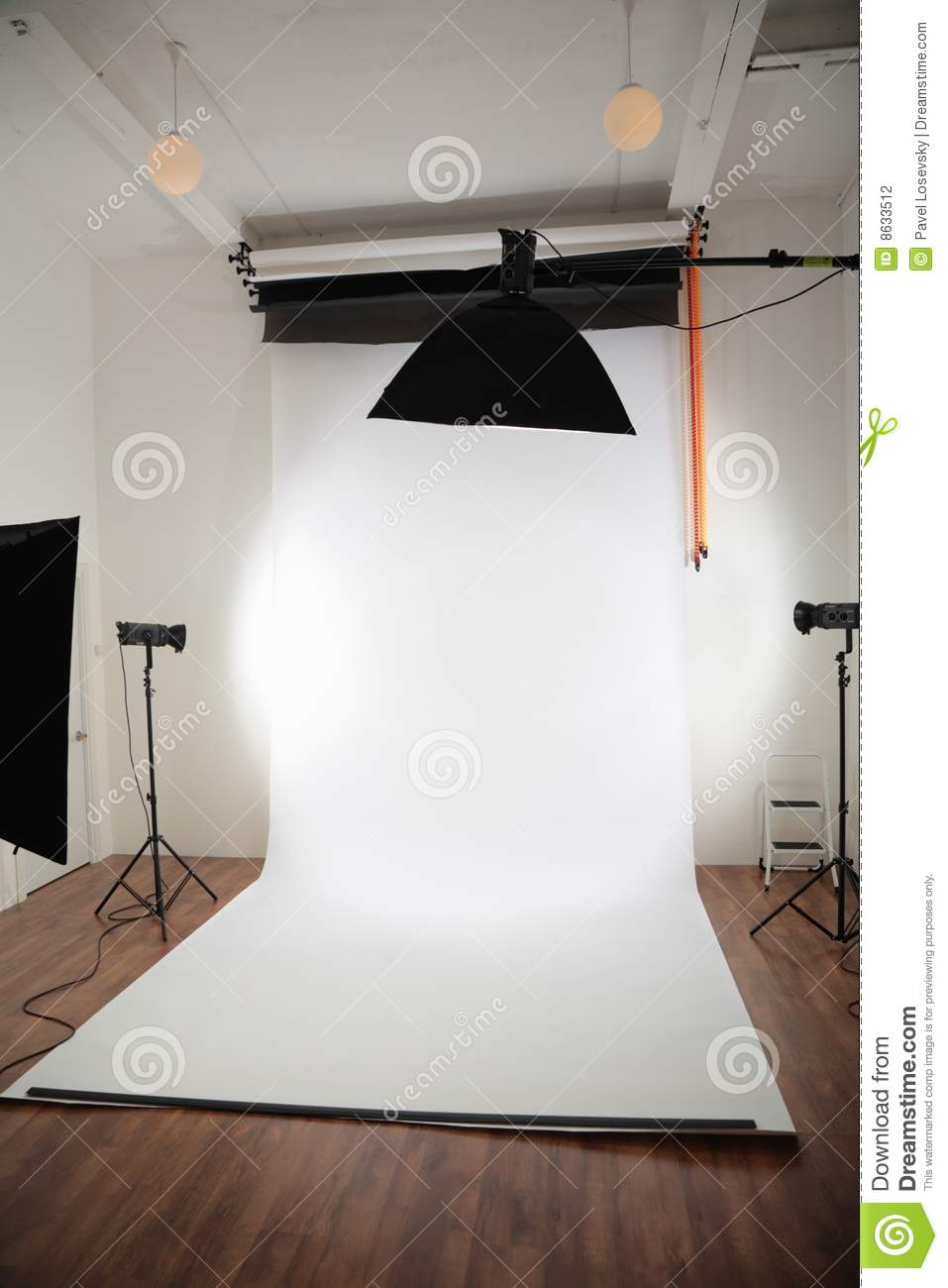 photographic studio interior stock photography