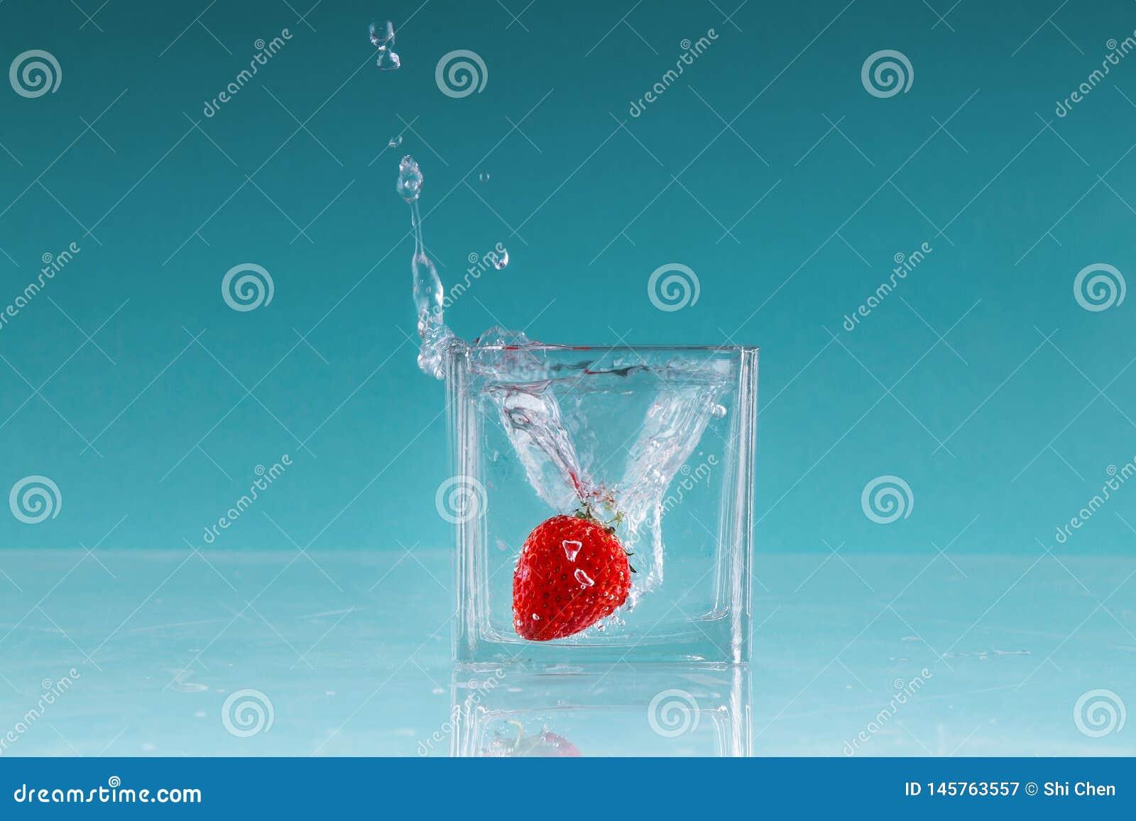 Photographie de grande vitesse de fruit de fraise