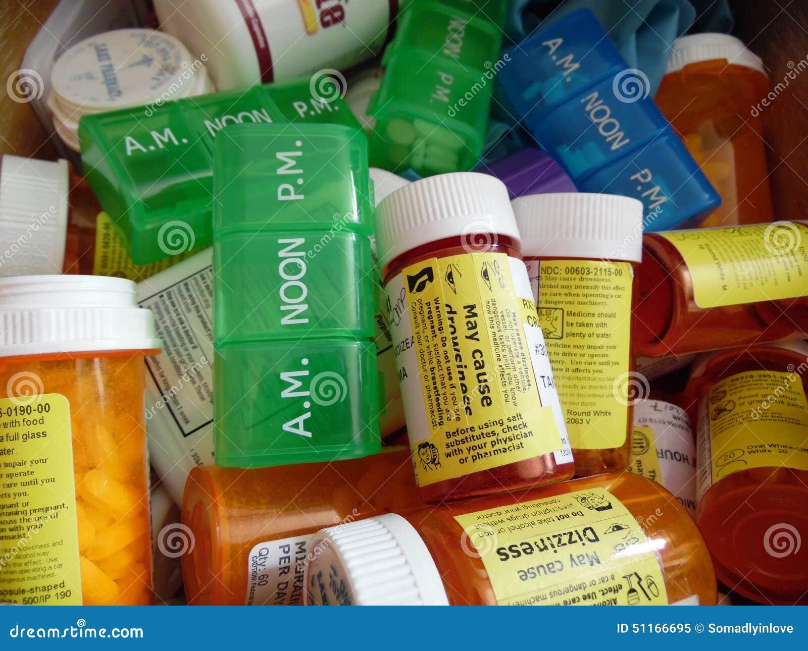 Photographie des minder de bouteilles et de pilule de Perscription