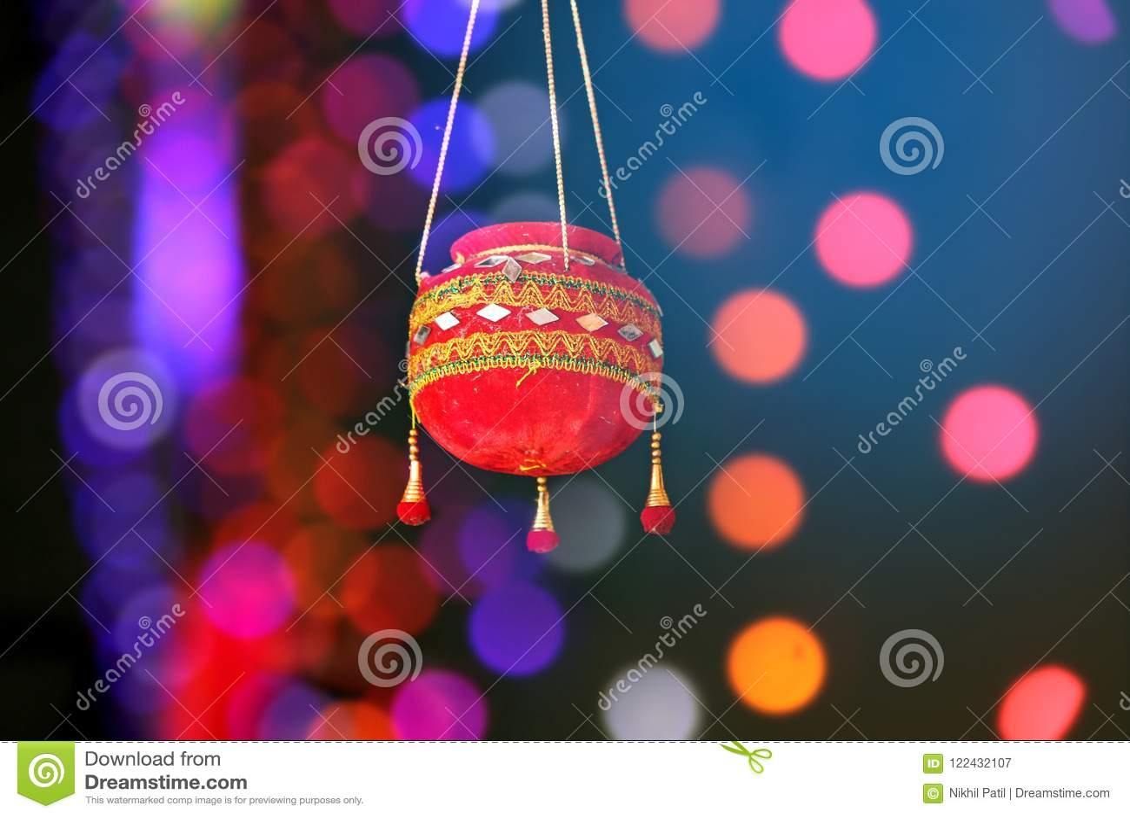 Photographie du dahi handi sur le festival de gokulashtami dans l Inde, qui est jour de naissance du ` s de Lord Shri Krishna