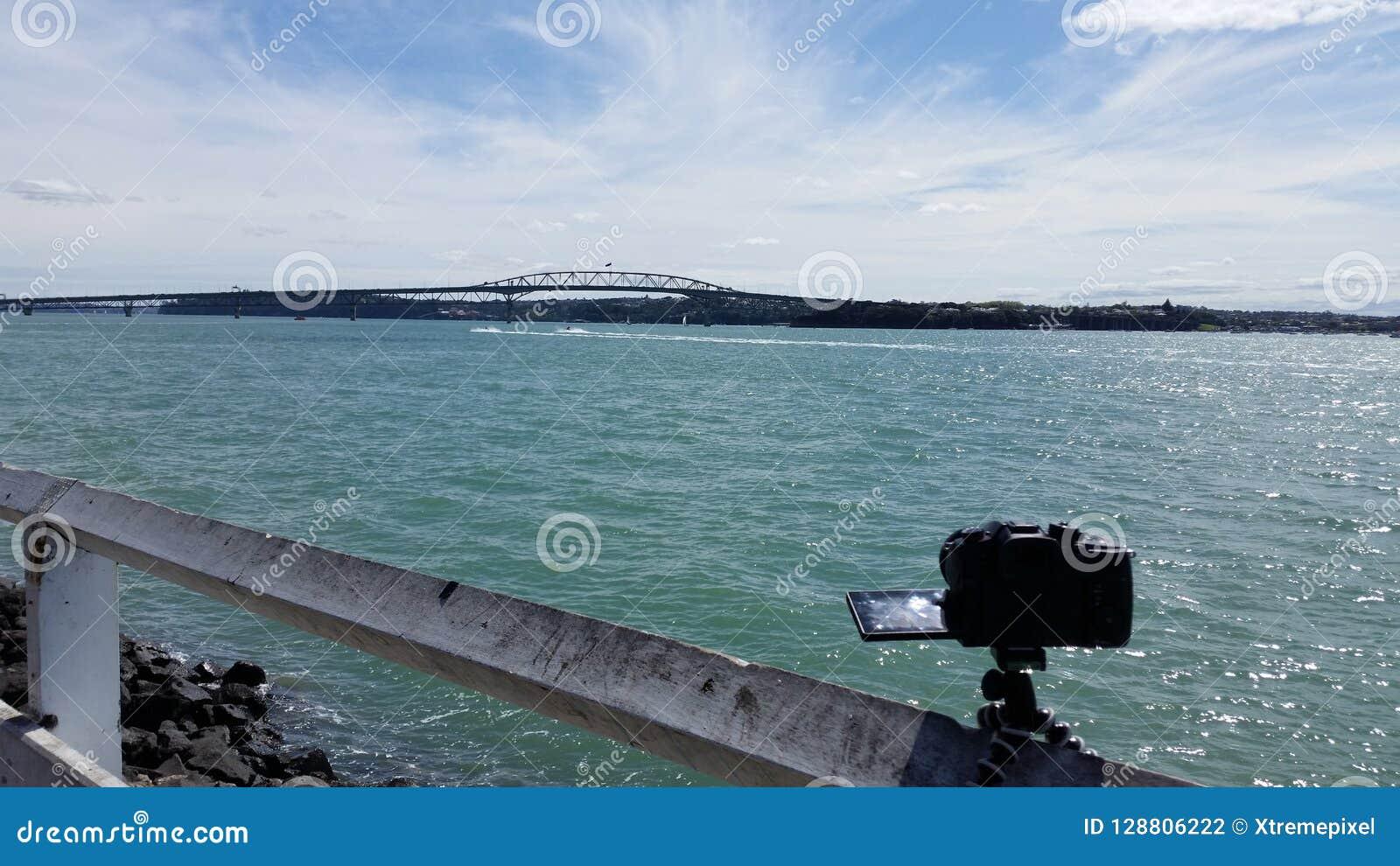 Photographie du pont de port d Auckland