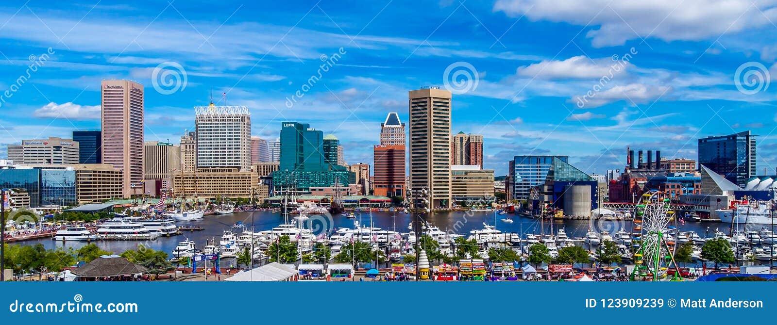 Photographie panoramique de Baltimore de colline fédérale