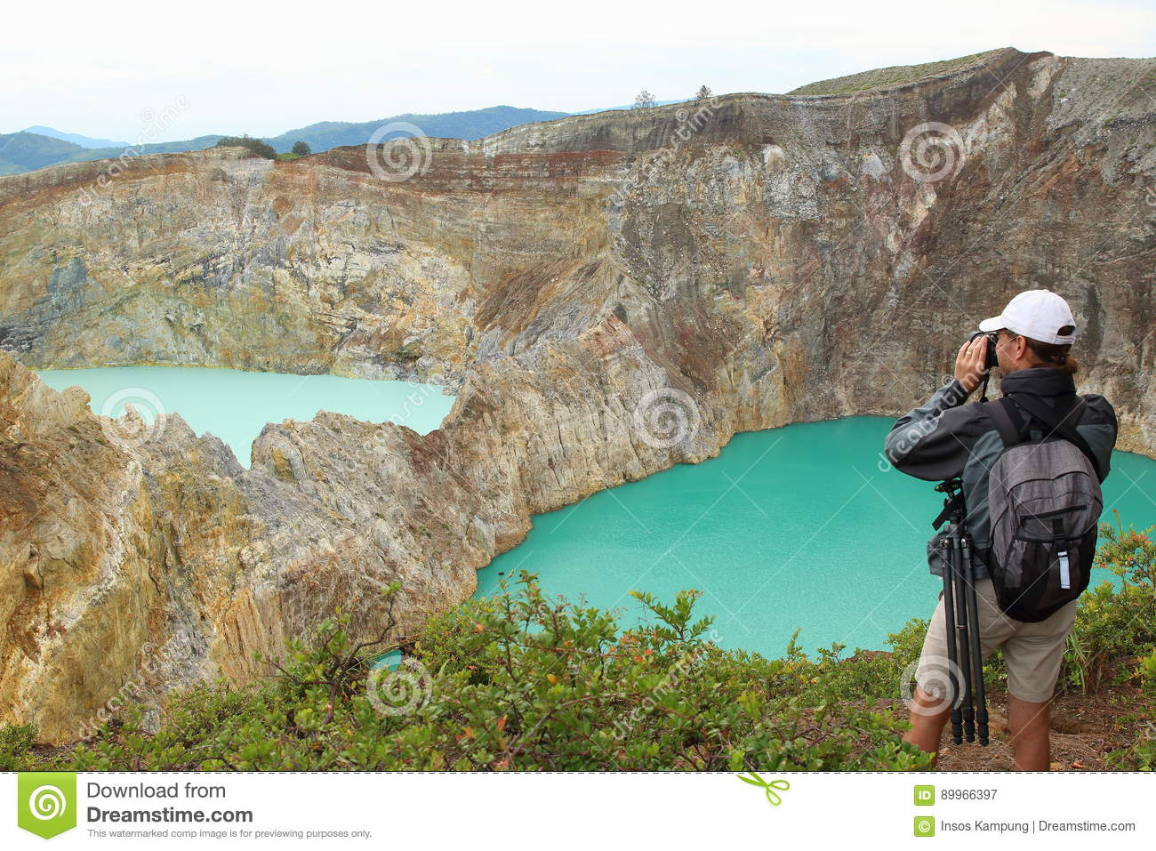 Photographing the Kelimutu Crater Lakes