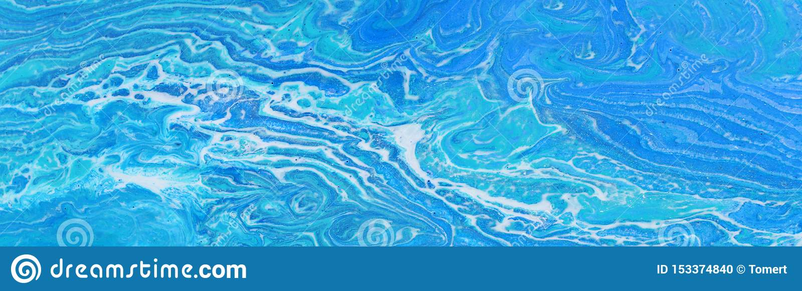 Photography Of Abstract Marbleized Effect Background Blue