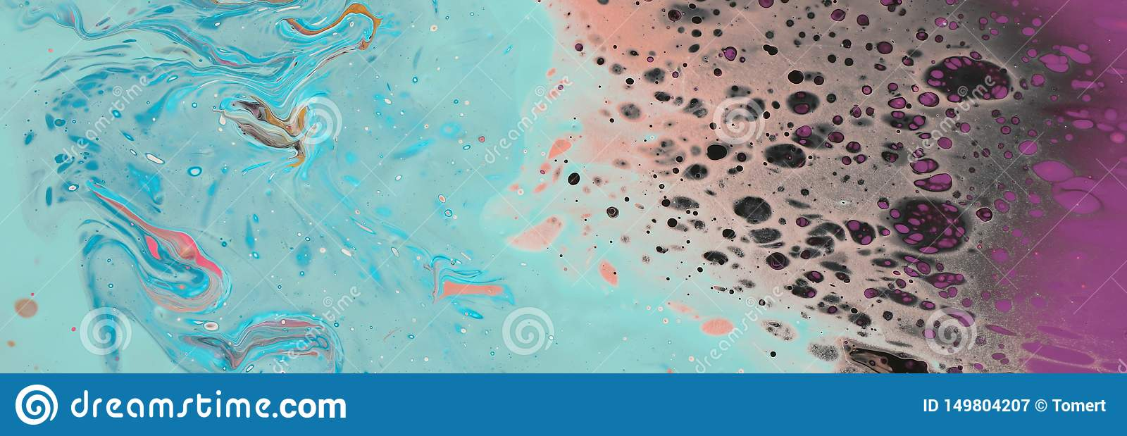 Photography Of Abstract Marbleized Effect Background Mint