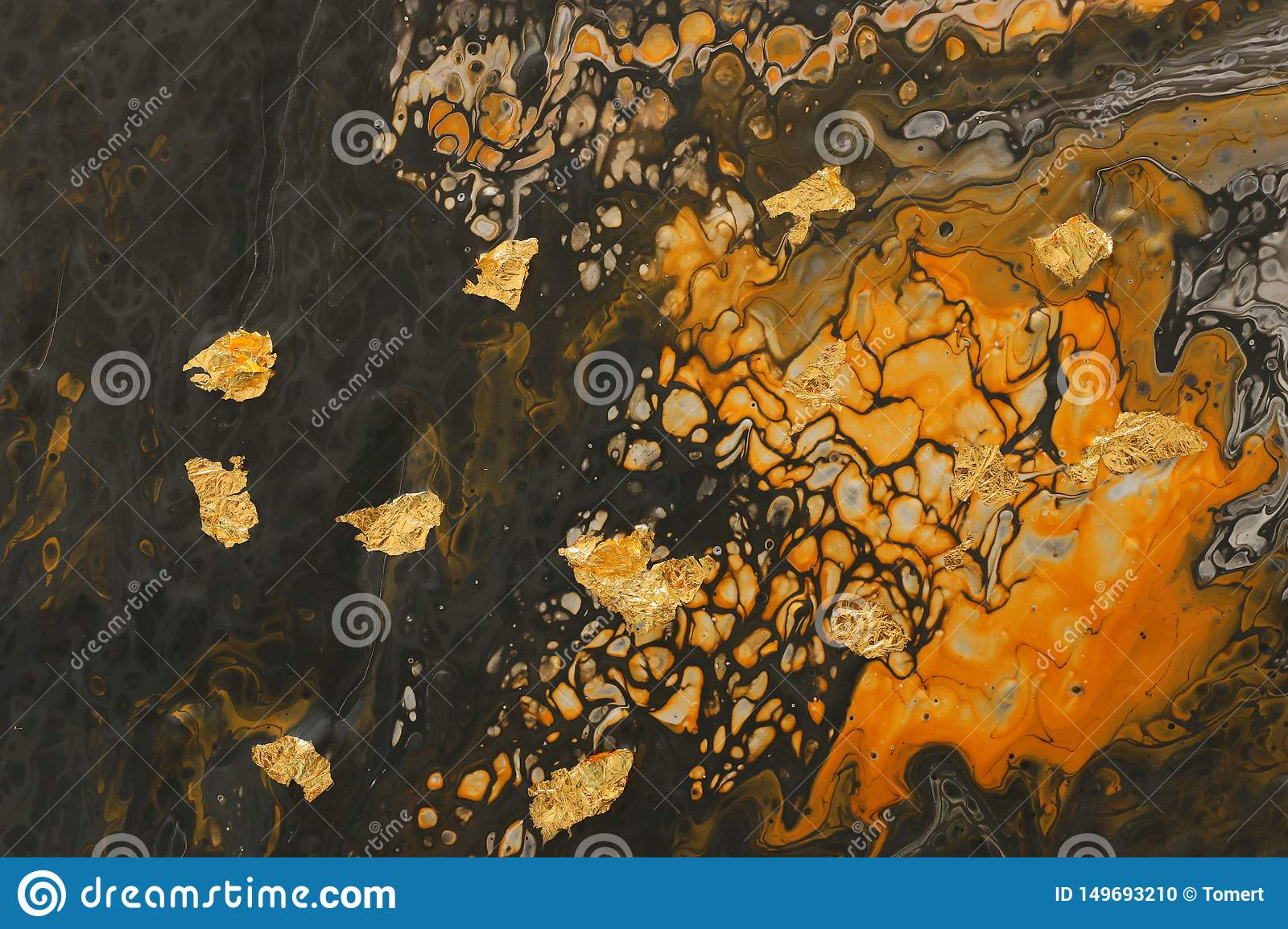 Photography Of Abstract Marbleized Effect Background Yellow