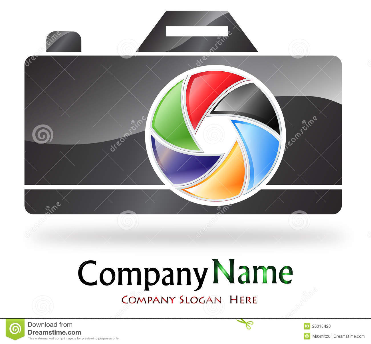Camera Company Logo Photography company logo stock