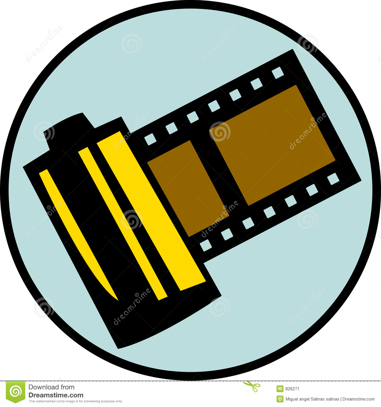 Photography Film Roll Or Reel. Vector Available Stock ...
