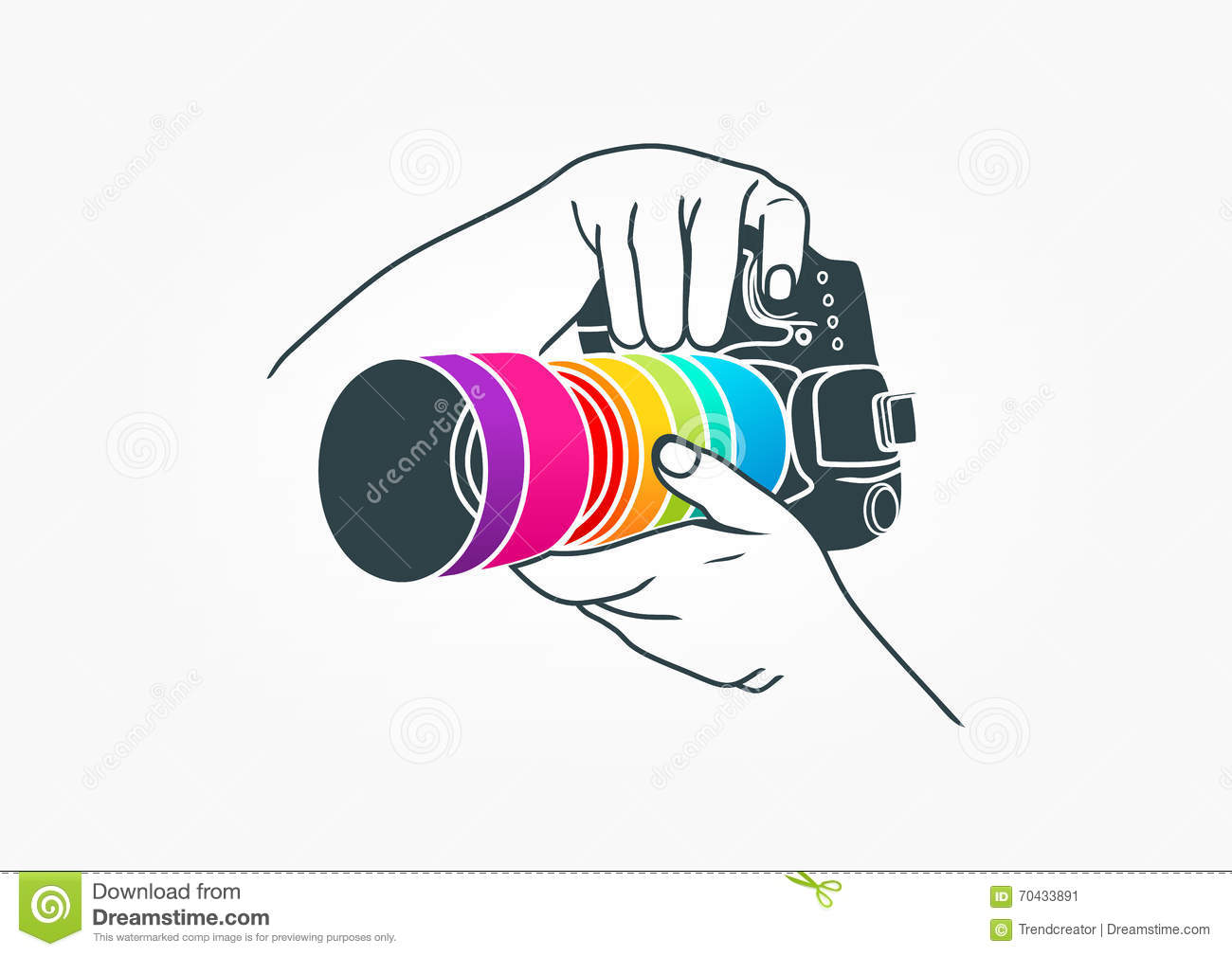 Photography Logo Camera Concept Design Stock Vector Image 70433891