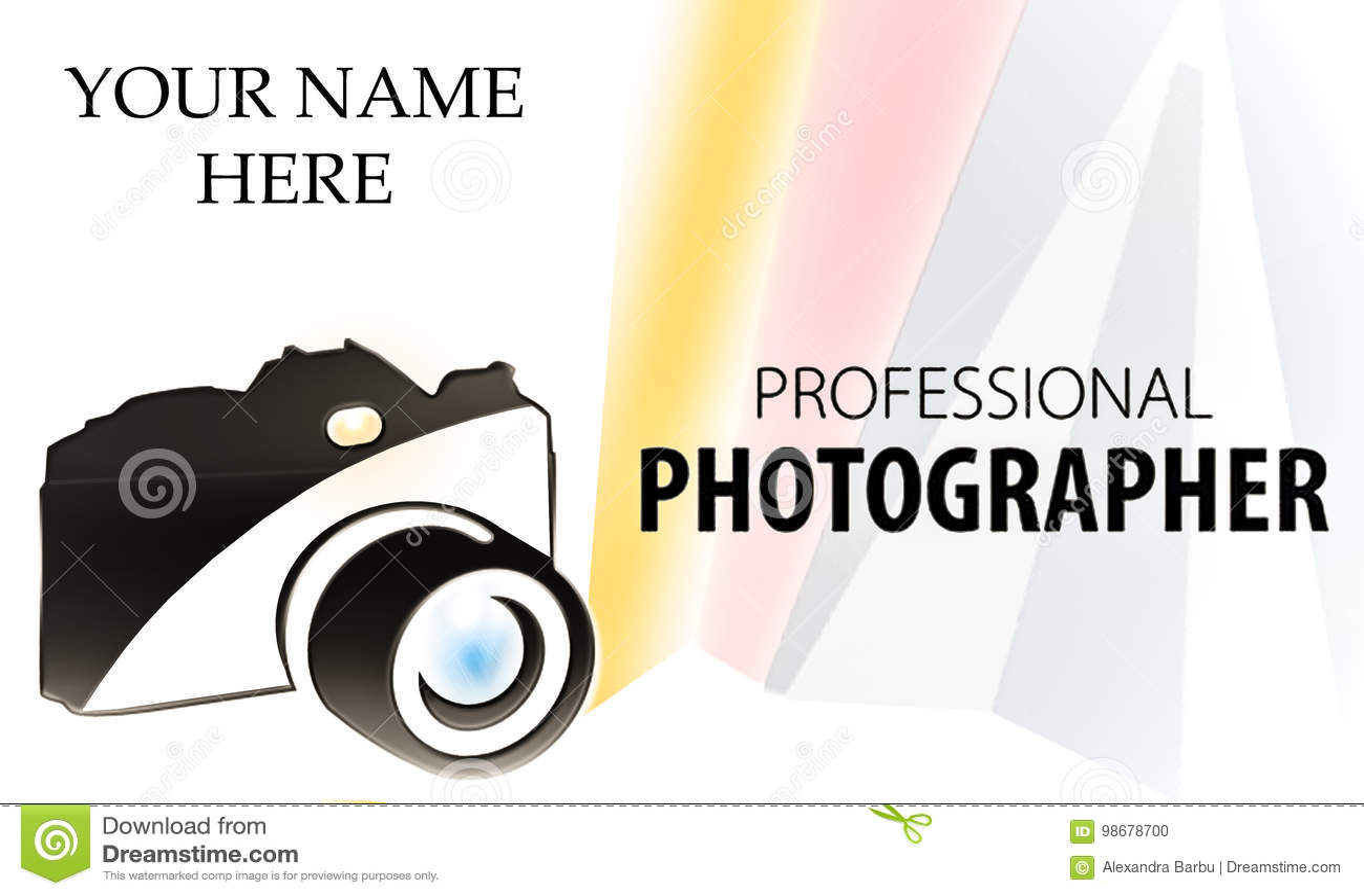 Camera Logo Bisiness Card Stock Illustration Illustration Of
