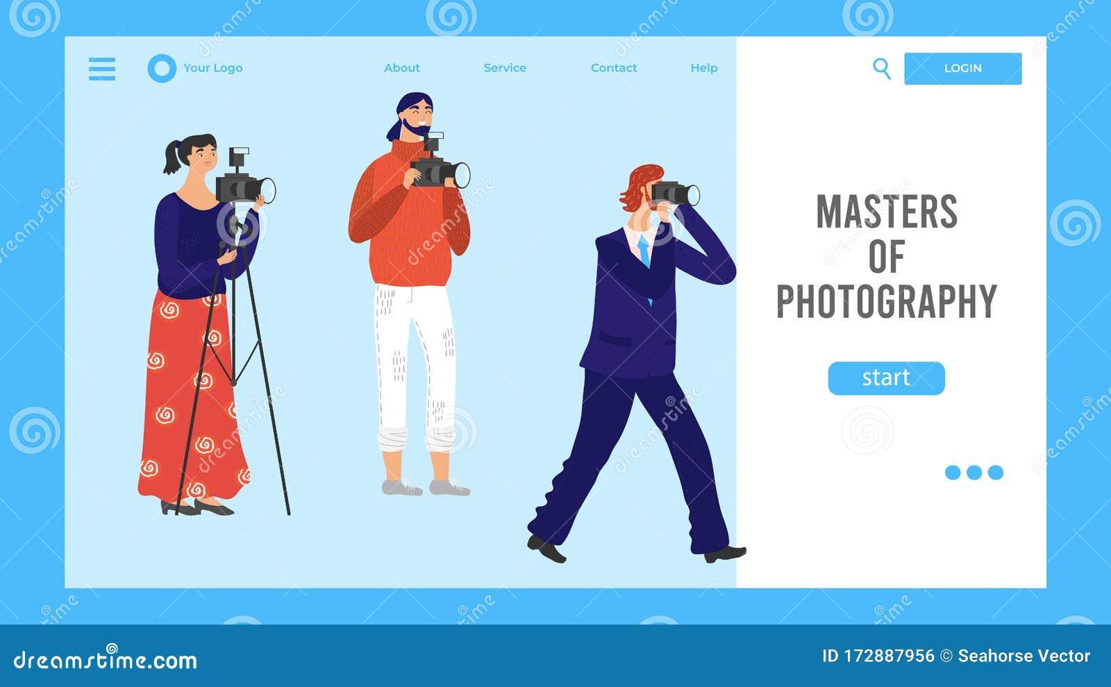 Photography School Website Design Advanced Level Course Vector Illustration Stock Vector Illustration Of Person Illustration 172887956