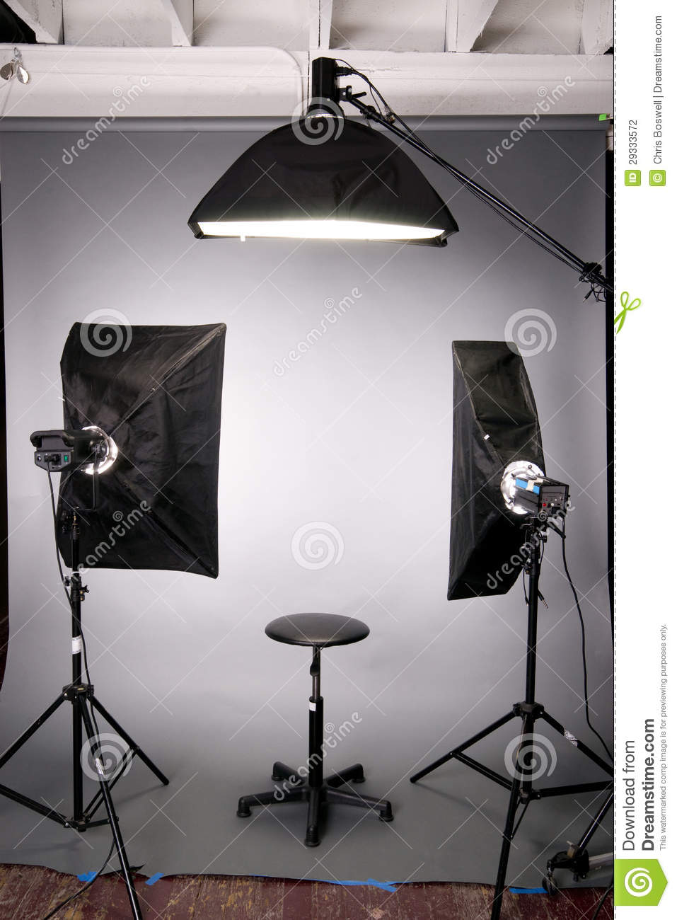 Photography Studio Lighting Background Setup Grey Stock Photography ...