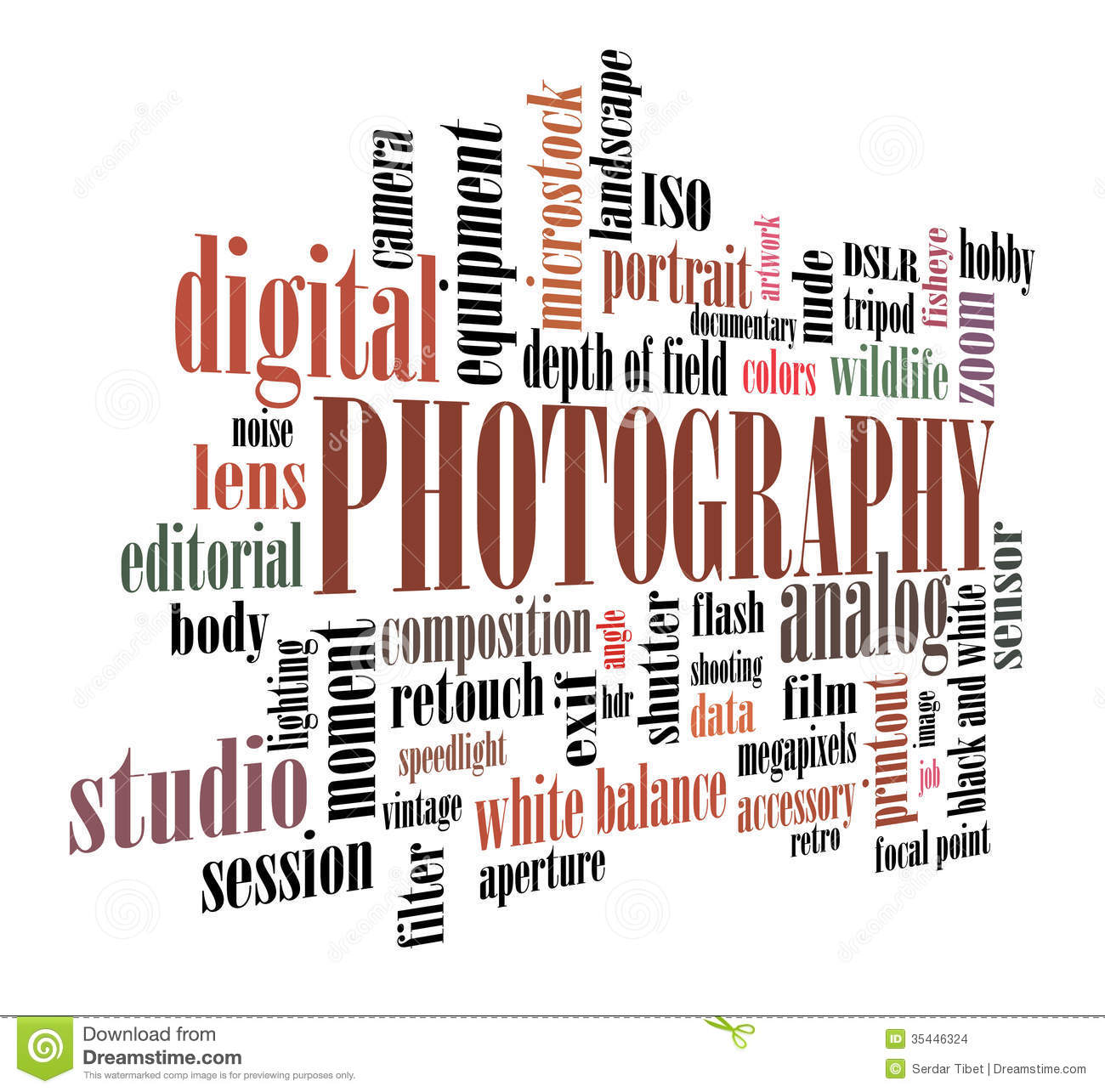 photography tag cloud stock images image 35446324