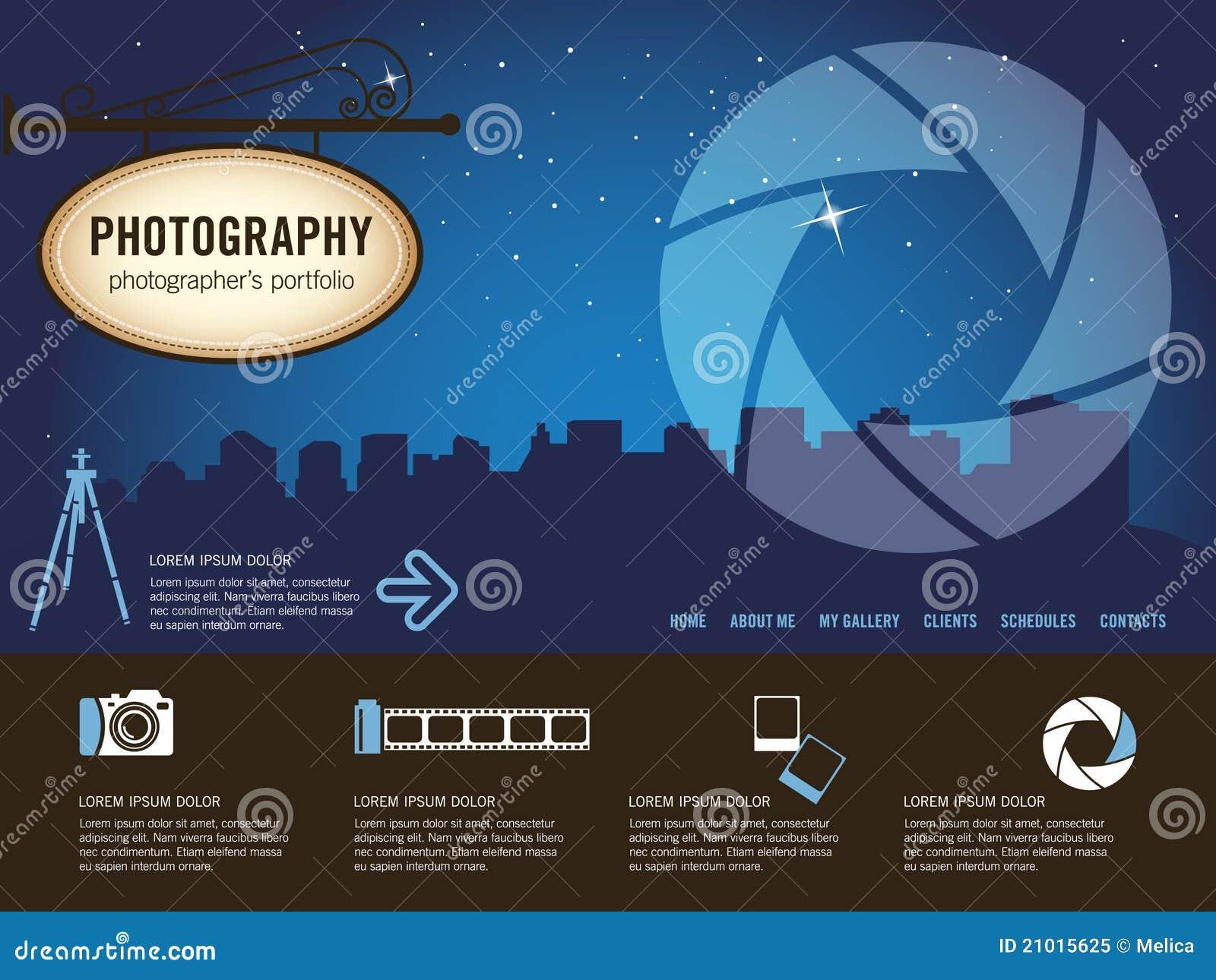 Photography Website Template Stock Vector Illustration Of - Photography website templates free download