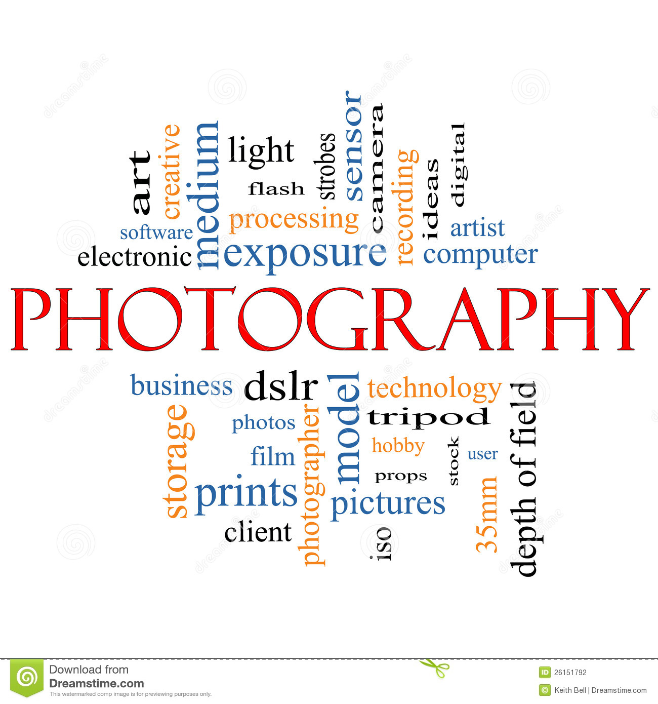 Photography Word Cloud Concept Stock Photography - Image ...