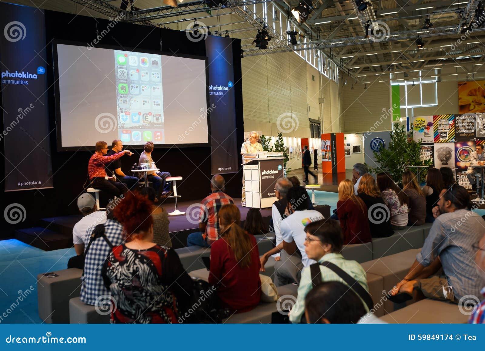 Photokina Exhibition Interior Editorial Stock Image