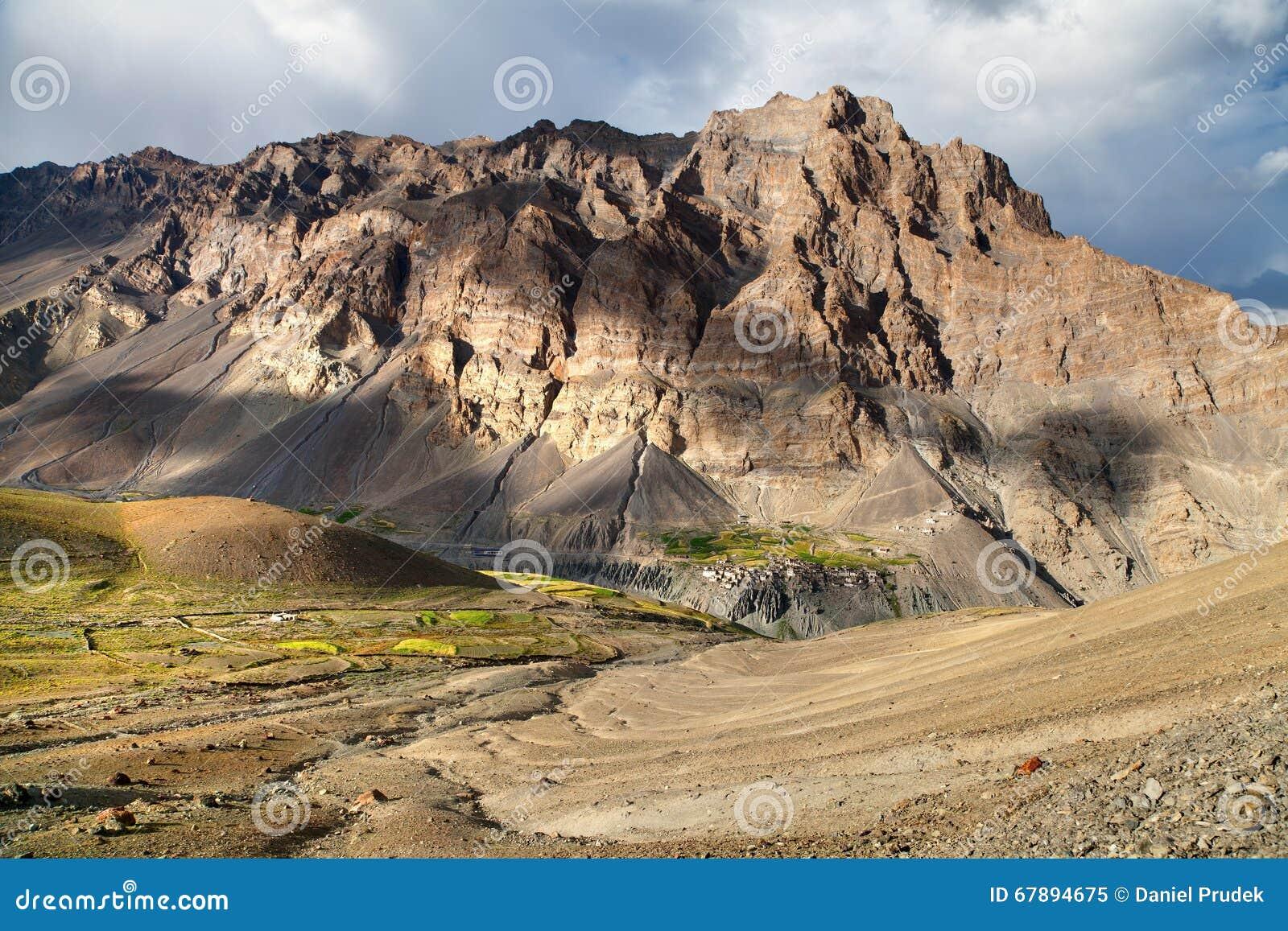 Photoksar村庄- Zanskar艰苦跋涉-拉达克-印度