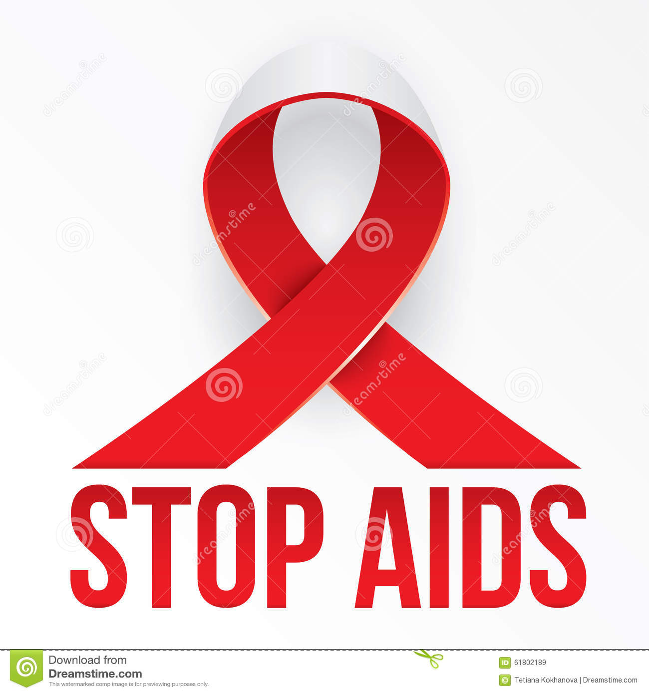 The Photorealistic Red Ribbon Is The Global Symbol For Solidarity