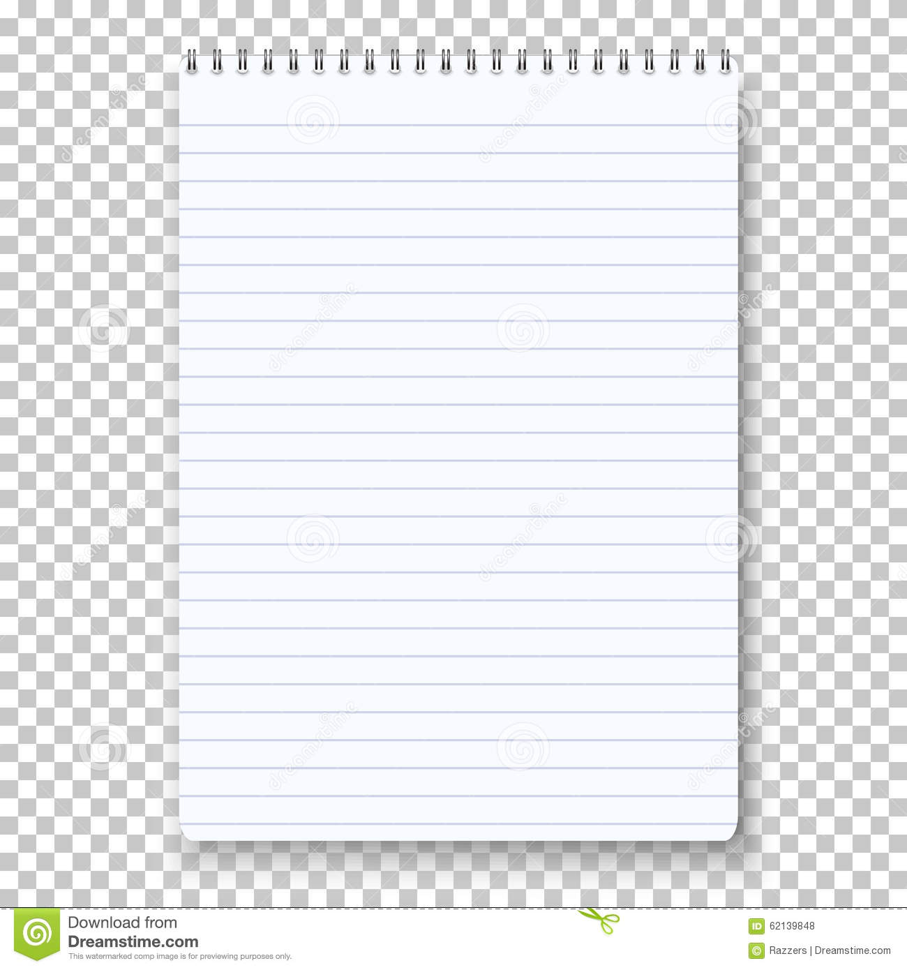 Photorealistic Vector Notepad On Transparent Background