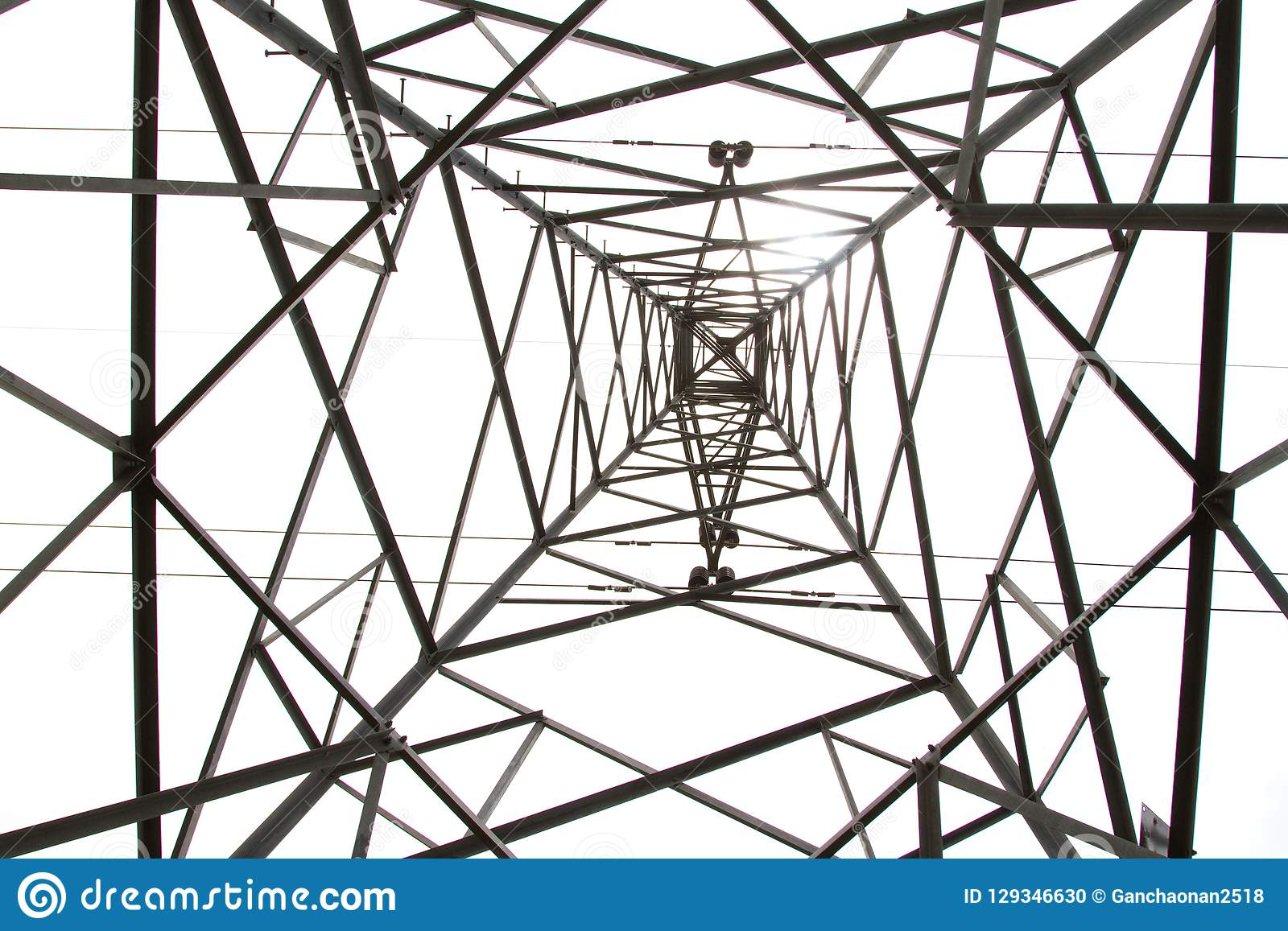 Photos from the bottom corner of the high voltage post or High voltage tower.