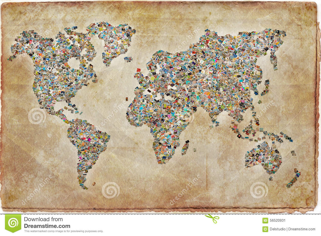 Photos collage in the shape of a world map stock image image of photos collage in the shape of a world map gumiabroncs Image collections