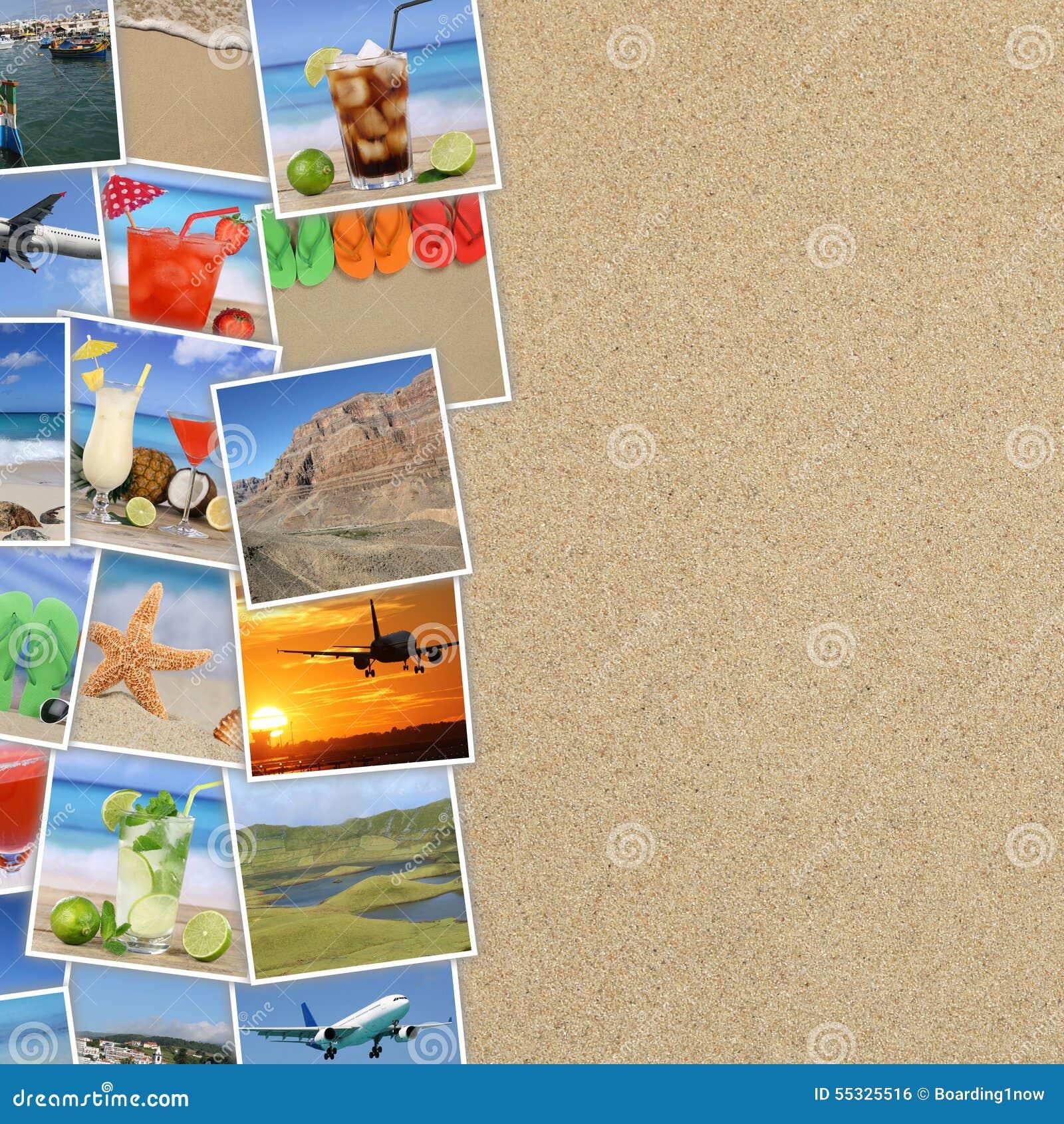 Photos des vacances d été, plage, boissons, voyageant, vacances a