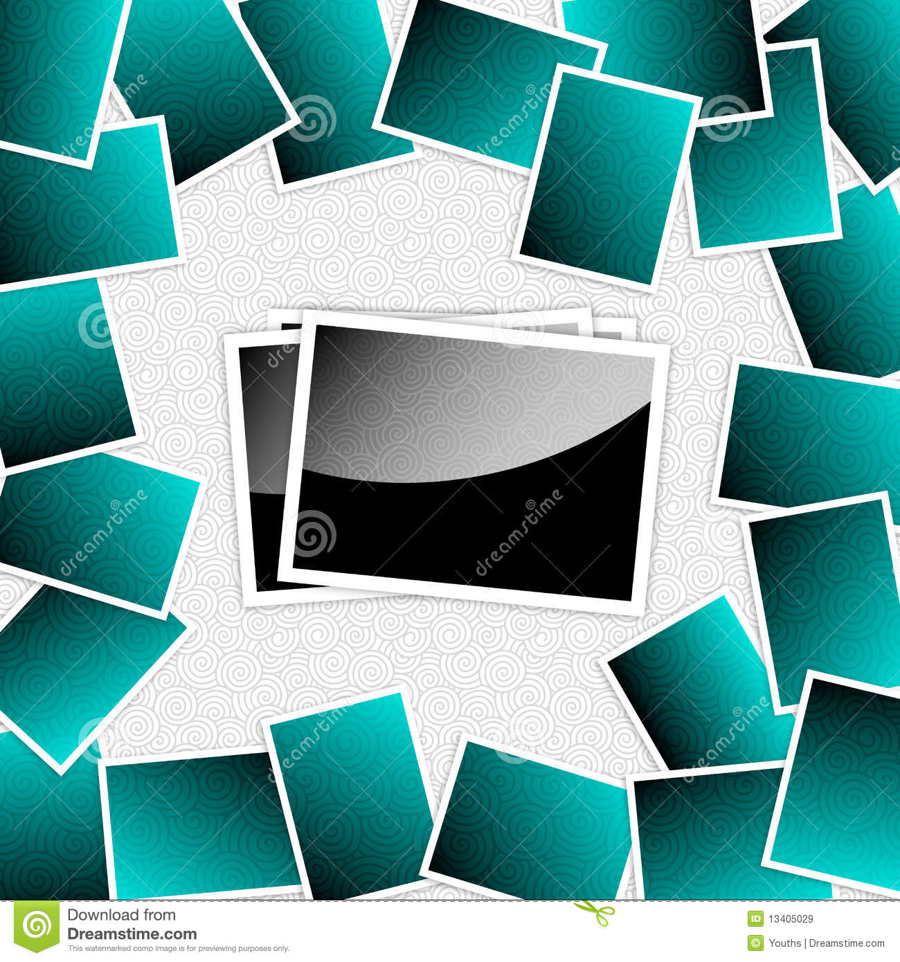 free collage templates - vector photos template frames stock vector illustration