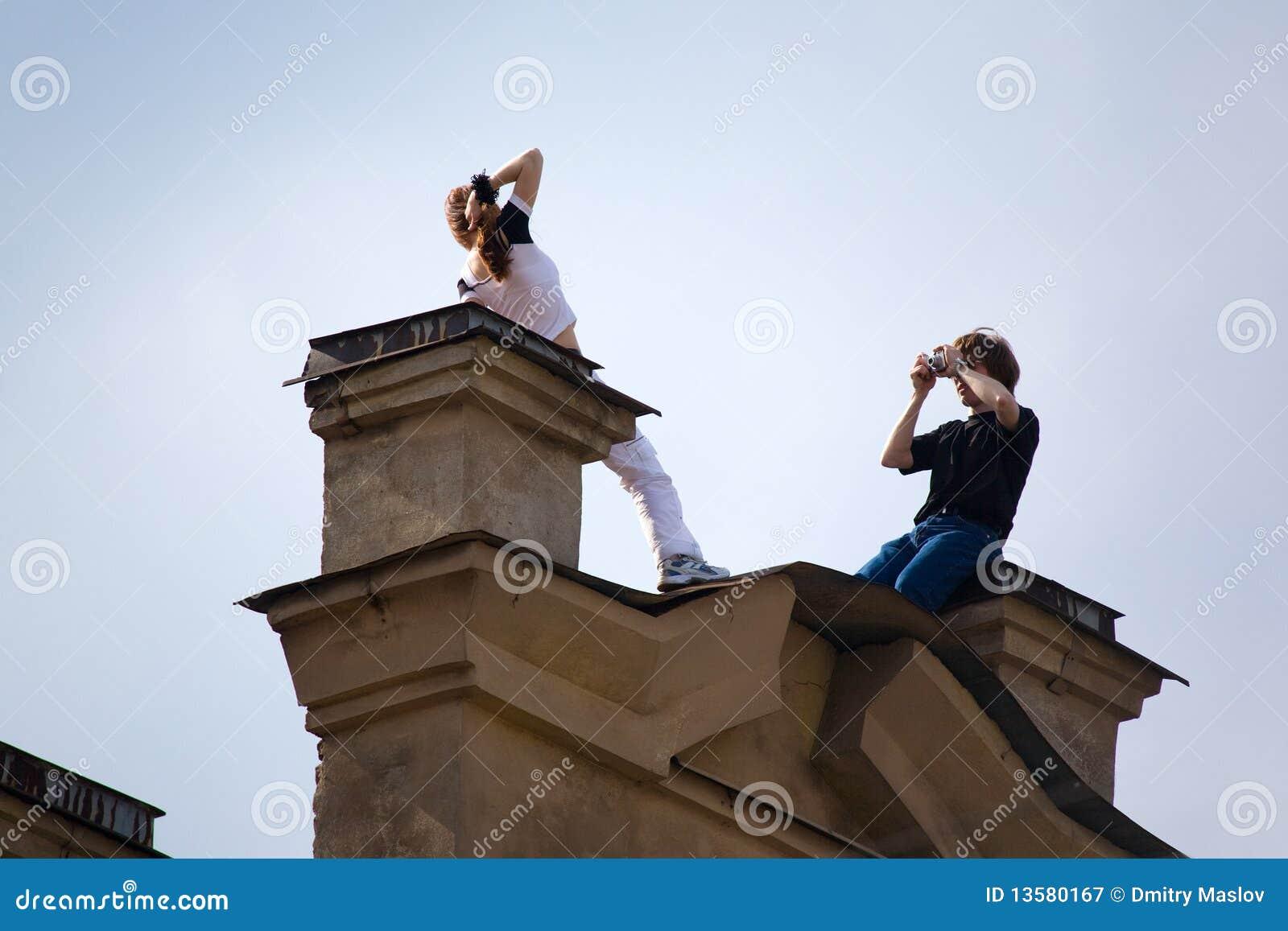 Photosession su un tetto