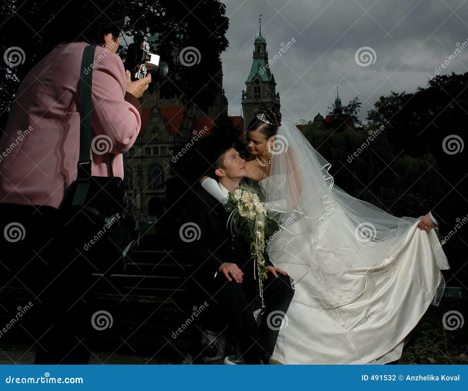 Photosession van het huwelijk