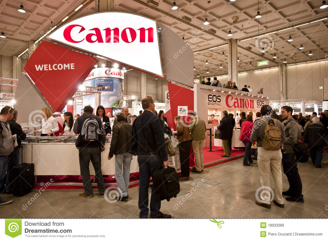 Photography Expo Stands : Canon booth at klpf editorial image cartoondealer