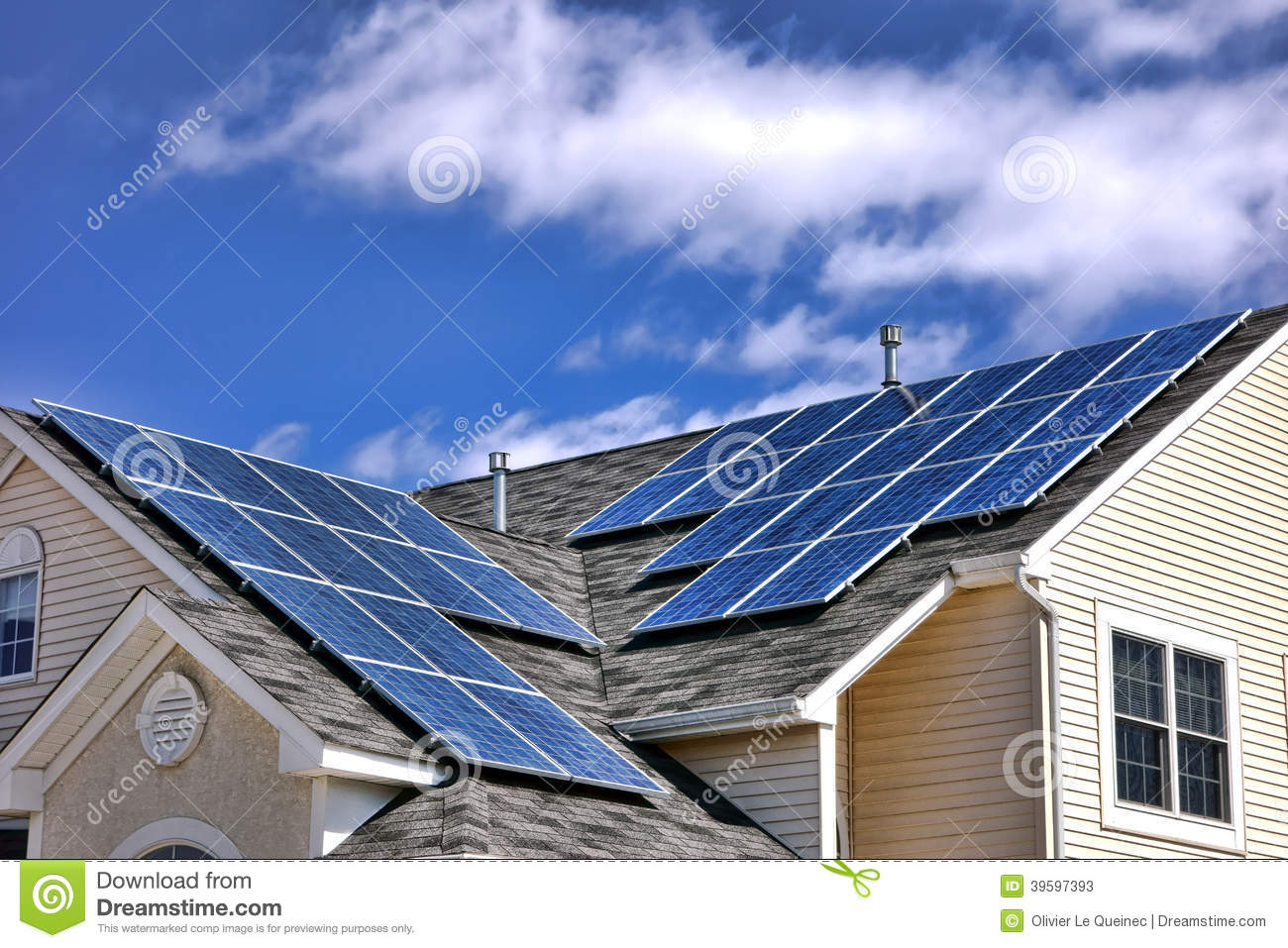 Photovoltaic modules solar panels cells on roof stock for Efficient roofing