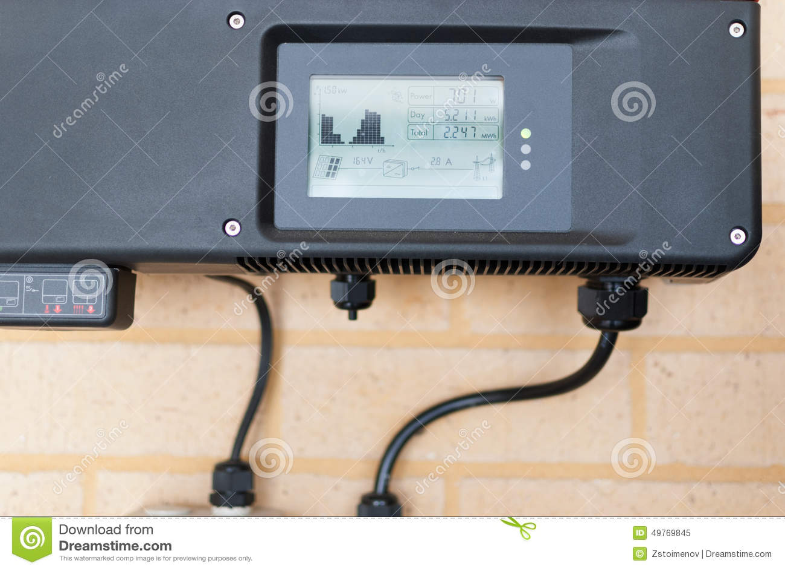 Photovoltaic przekształtnik instalujący w domu