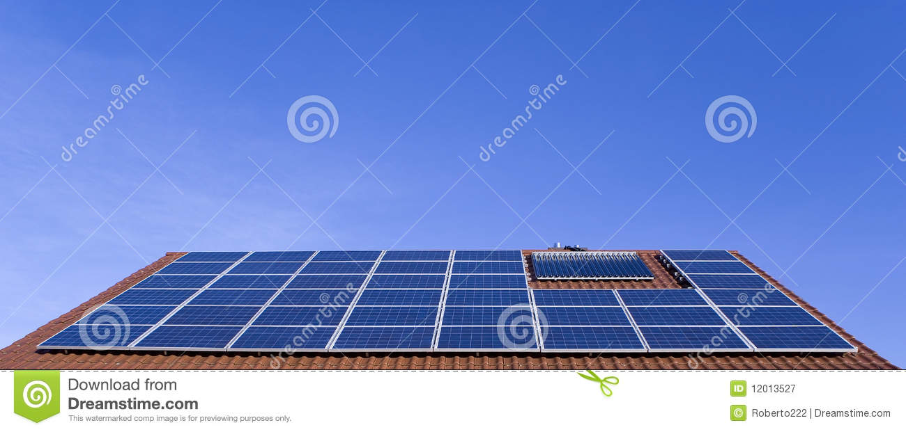 Photovoltaic Roof Royalty Free Stock Photography - Image: 12013527