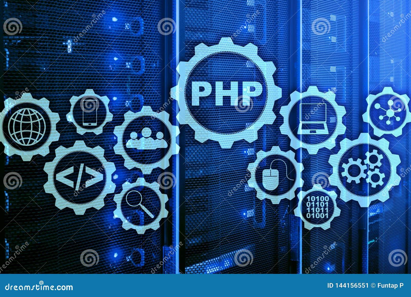 PHP编程语言 开发的编程和编码技术 网络空间概念