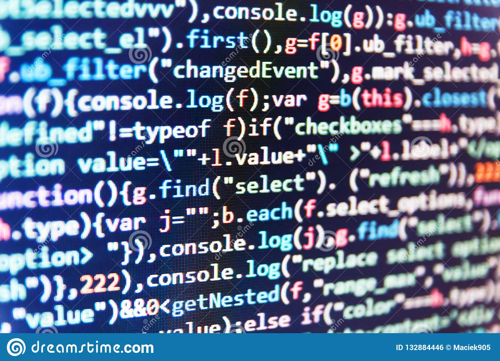 Php And Coding Technologies Programmer Working In A Software