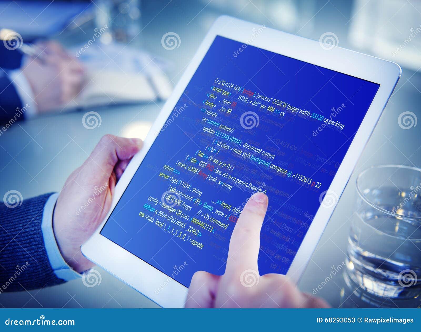 Php die HTML-Codagecyberspace Concept programmeren