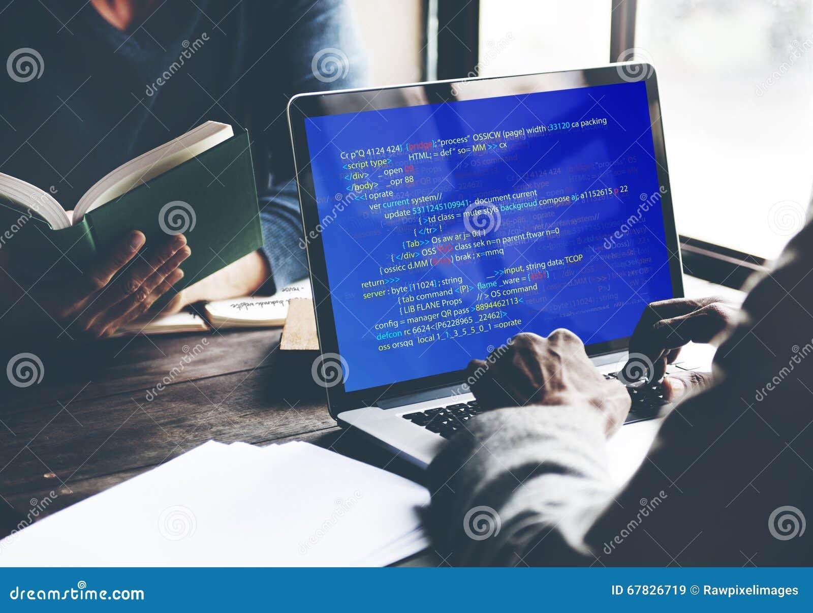 PHP que programa o conceito do Cyberspace da codificação do HTML