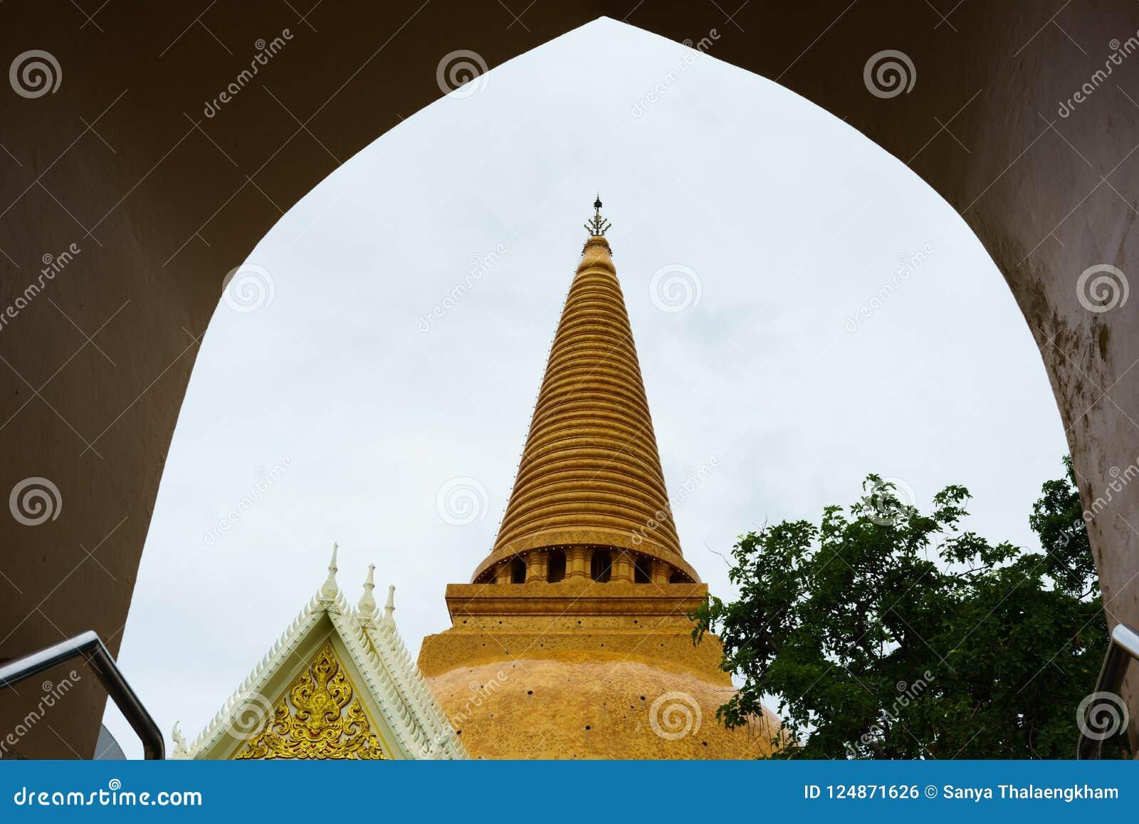 Phra Pathom Chedi stor pagod, Nakhon Pathom landskap, Thailand