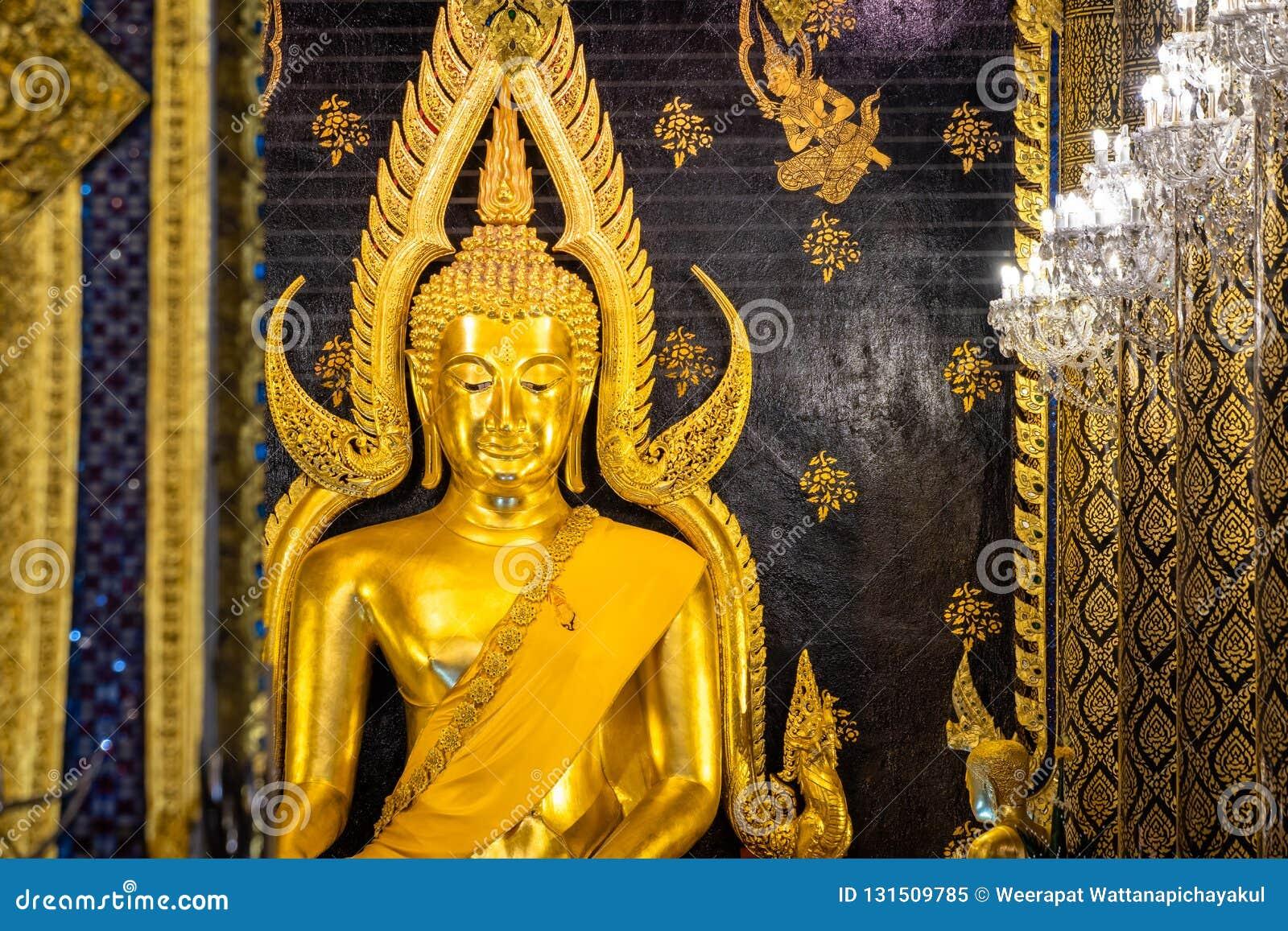 Phra Phuttha Chinnarat, héritage antique thaïlandais et considéré en tant qu un du chiffre le plus beau de Bouddha en Thaïlande,