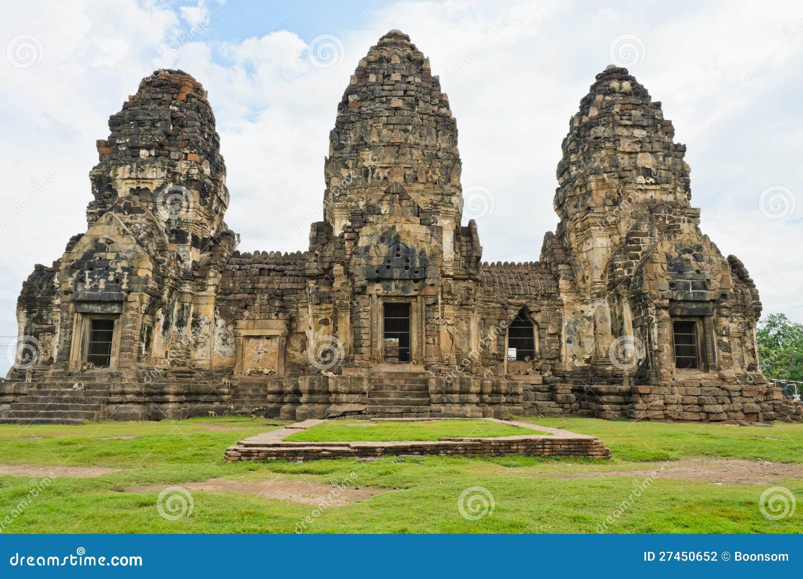Phra Prang Sam Yot Fotografía de archivo - Imagen: 27450652