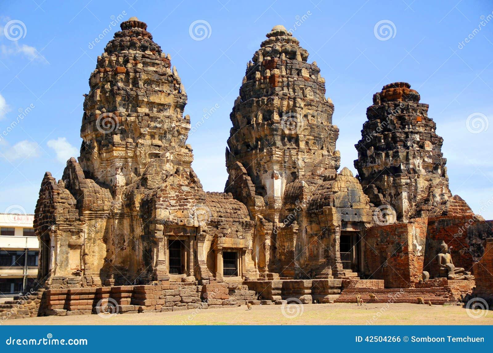 Phra Prang Sam Yot Stock Photo - Image: 42504266