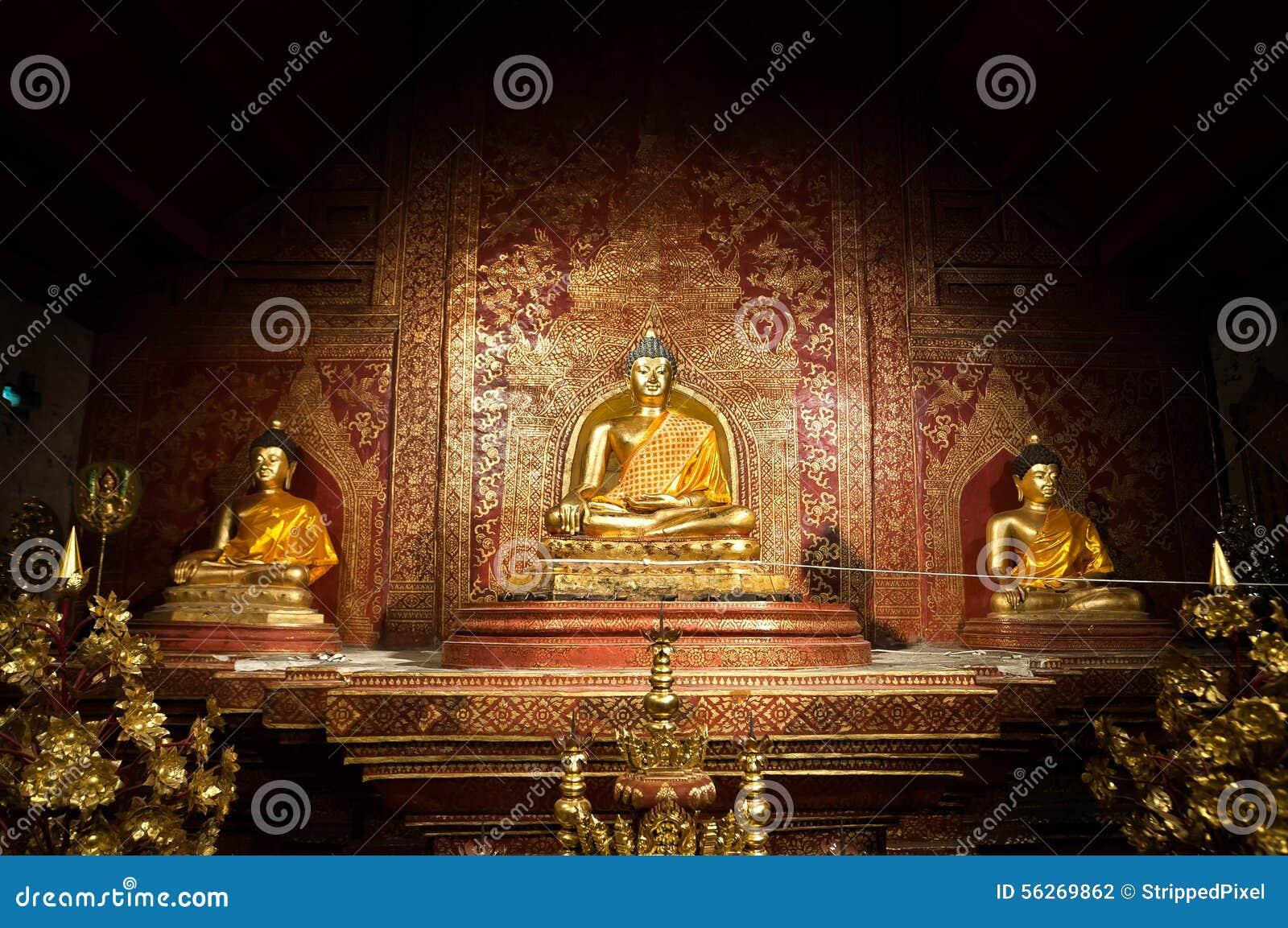 Download Phra Singh Buddha At Wat Phra Singh, Chiang Mai, Thailand Stock Photo - Image of buddhism, interior: 56269862