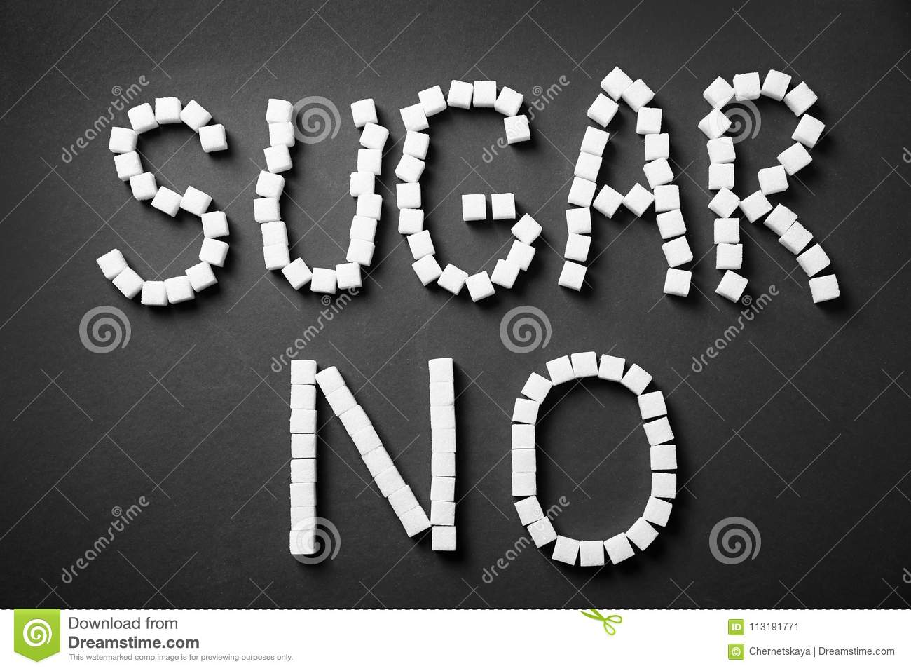 Phrase No Sugar Stock Image Image Of Eating Background 113191771