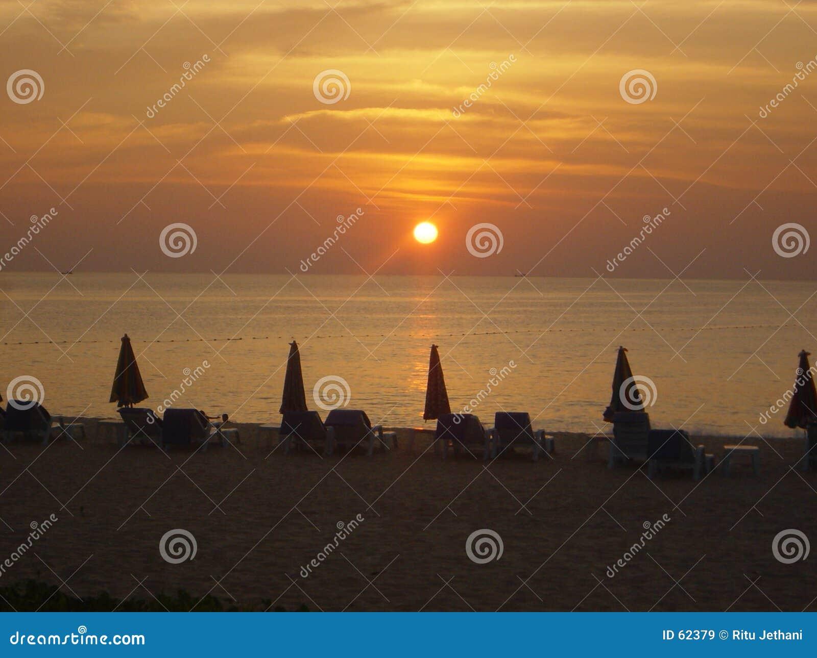 Phuket solnedgång thailand