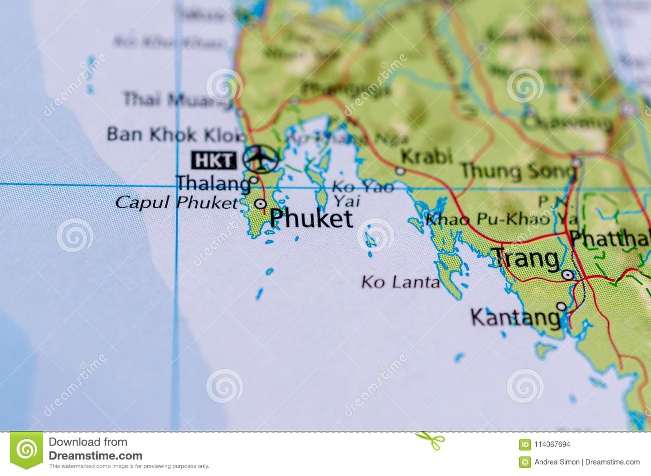 Carte Thailande Aeroport.Phuket Sur La Carte Photo Stock Image Du Aeroport Provinces
