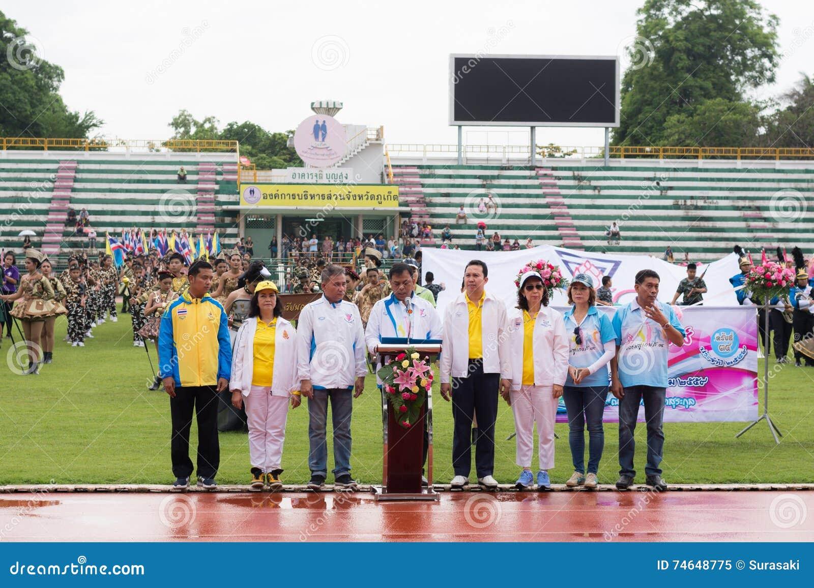 PHUKET, THAILAND - JUL 13 : Opening Ceremony Of Yearly