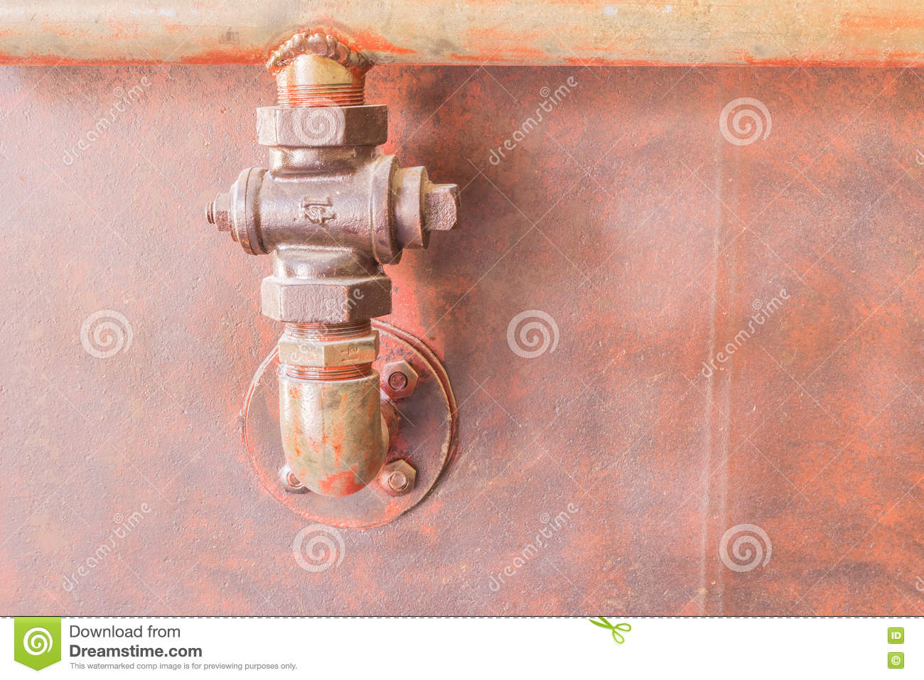Phuket, Thailand - Mar 26, 2016 : Old pipe connection for tin mi