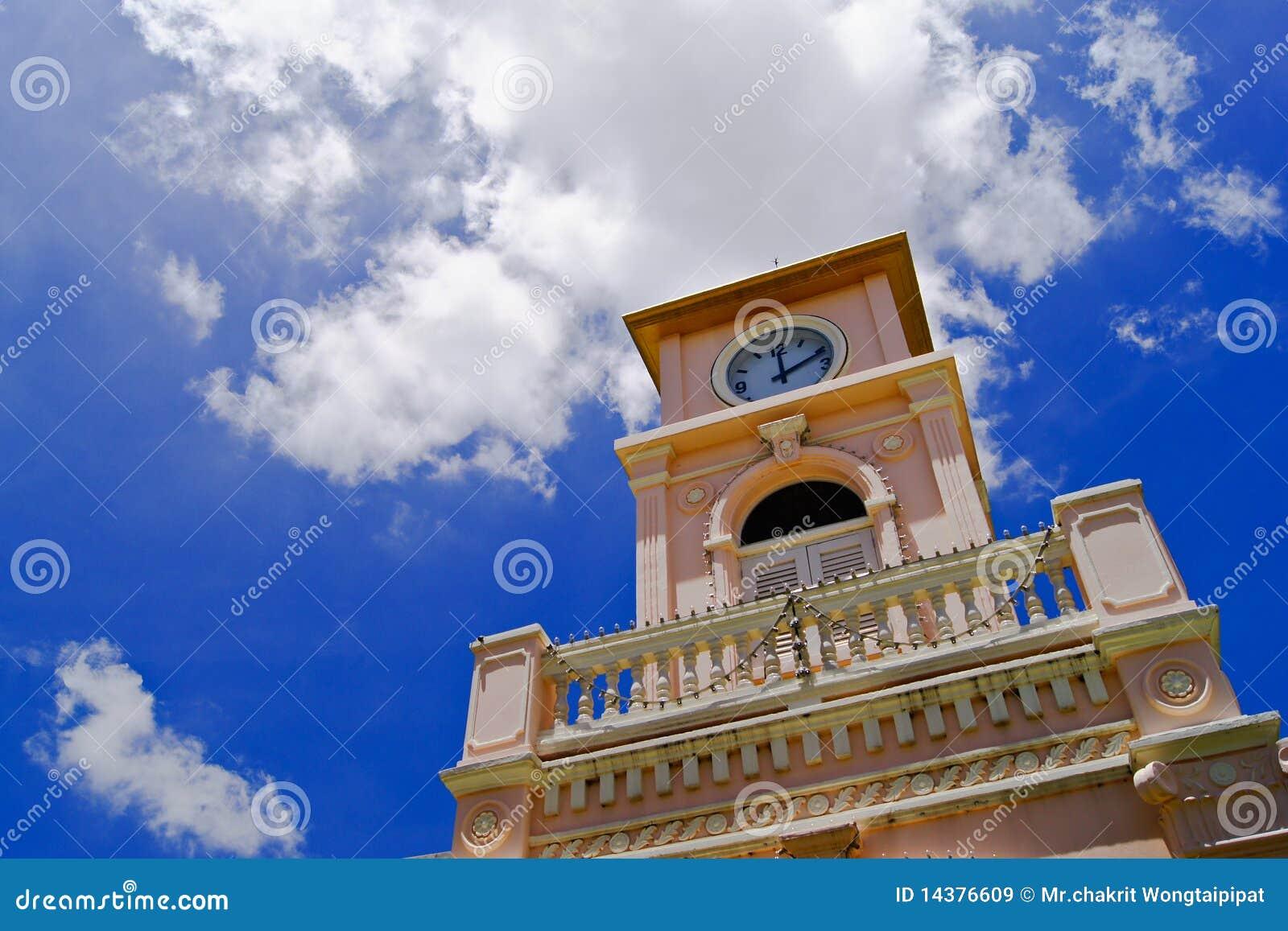 Phuket zegarowy wierza Thailand