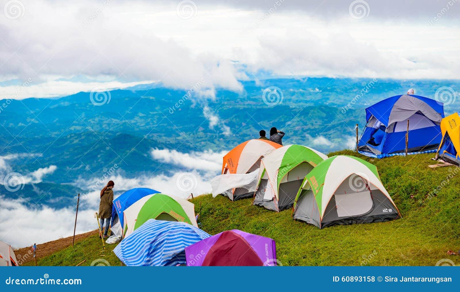 Phetchabun Thailand  city photo : PHUTHAPBOEK PHETCHABUN THAILAND OCTOBER 10 : Tent on the mountain ...